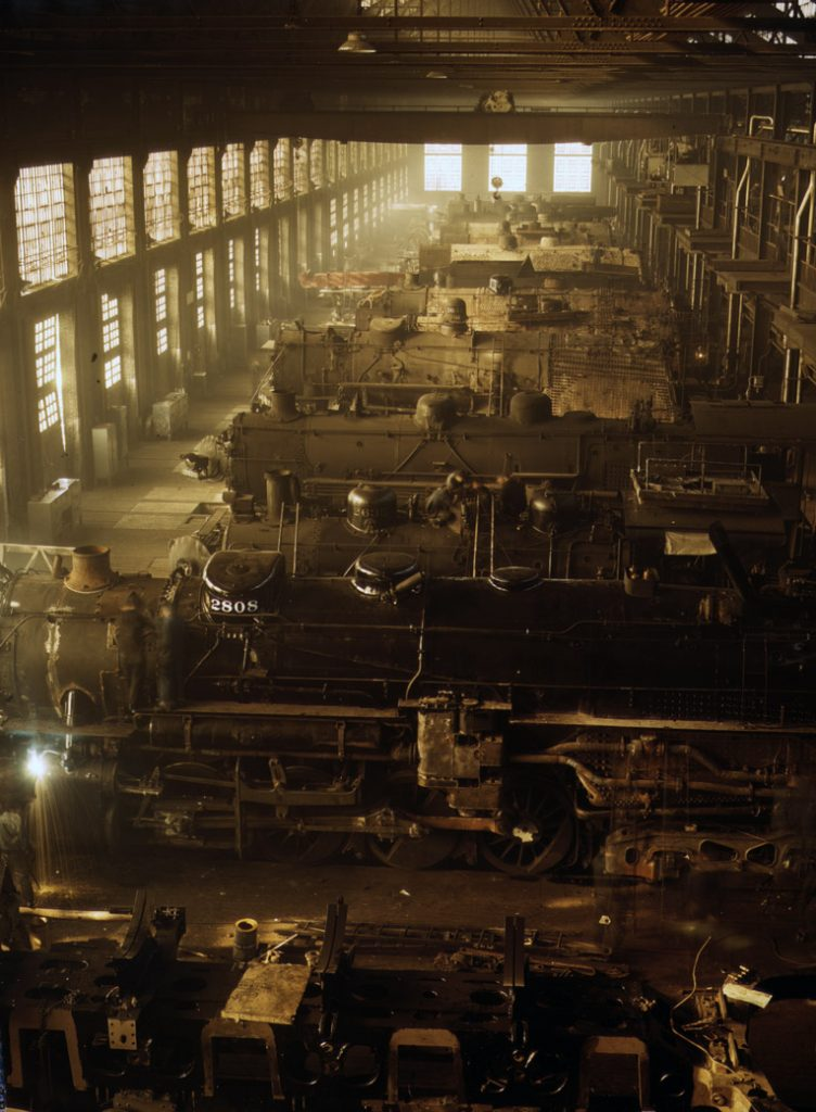 C&NW Railroad Locomotive Shops, Chicago, Ill.