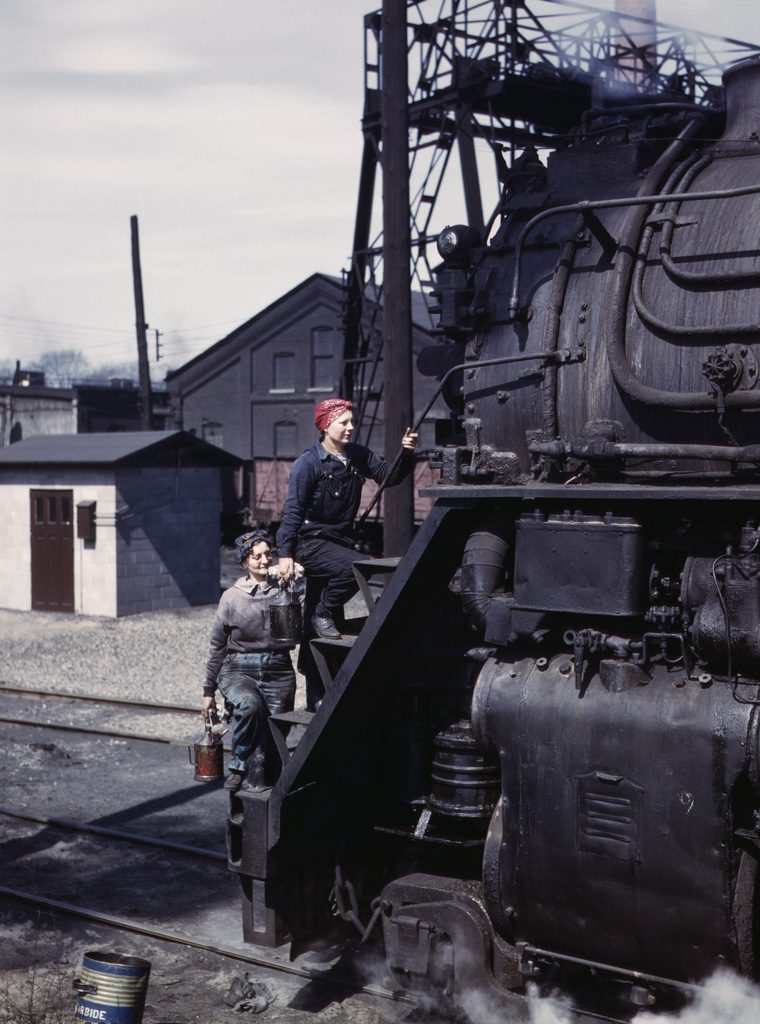 Women Engine Wipers, C&NW Railroad