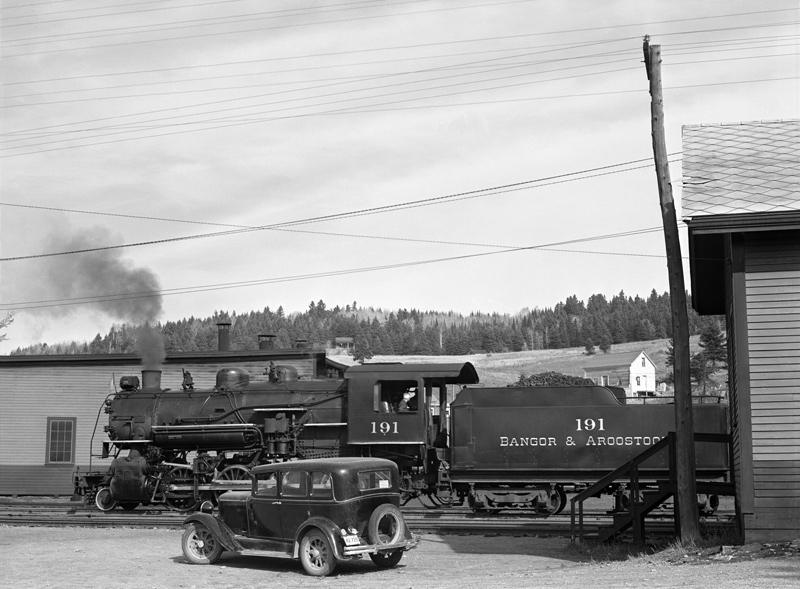 BAR 2-8-0 #191 at the Freight Yard, Caribou, Maine