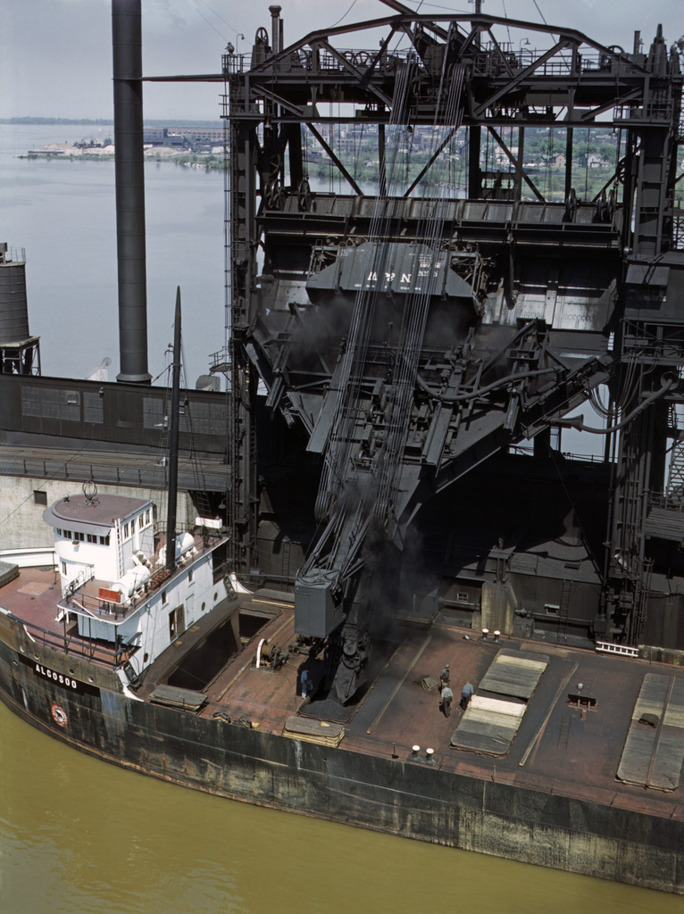 Loading Coal Into a Lake Freighter