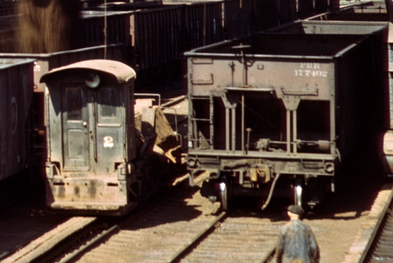 Hulett locomotive with poling arm down