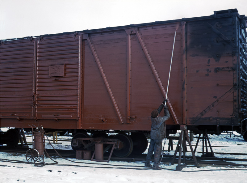 Painting a Freight Car