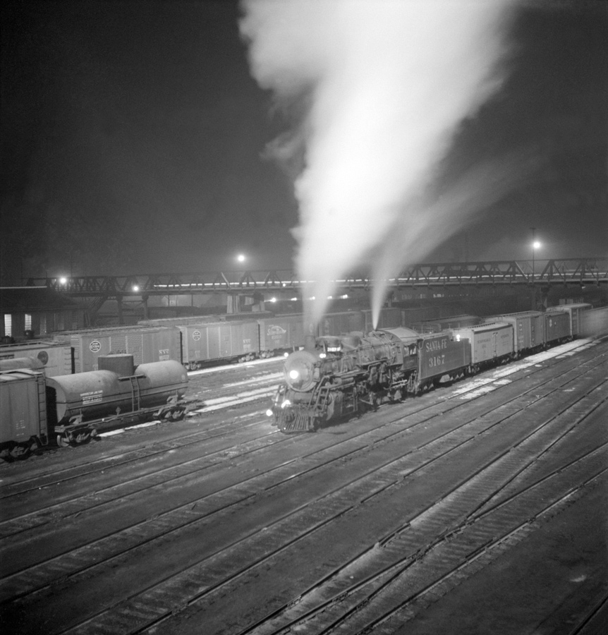 AT&SF Freight Leaving Argentine Yard
