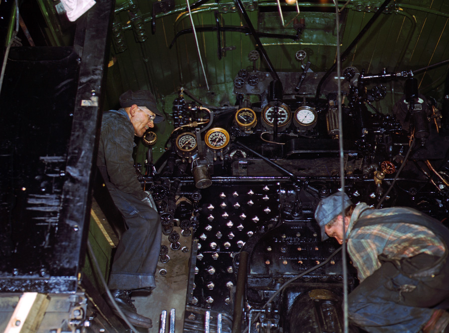 Repairs in Steamer Cab, C&NW Shops