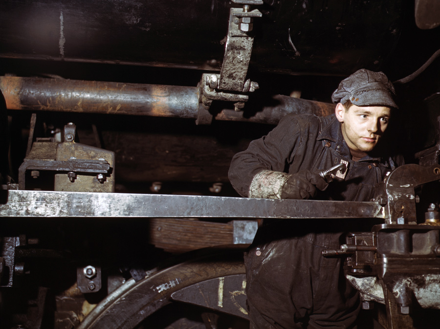 Young Worker at C&NW Shops in Chicago