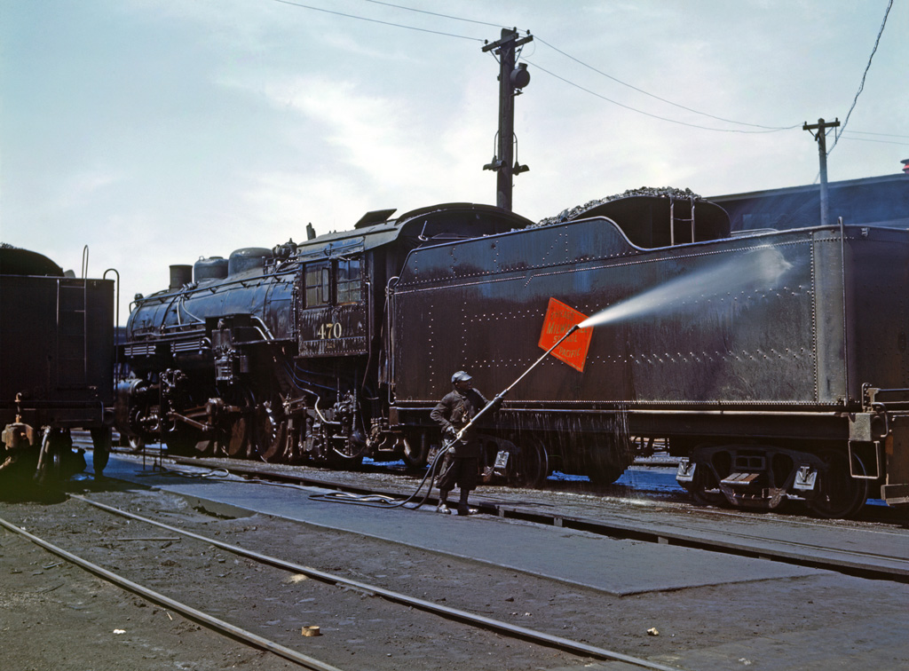 Cleaning a Locomotive