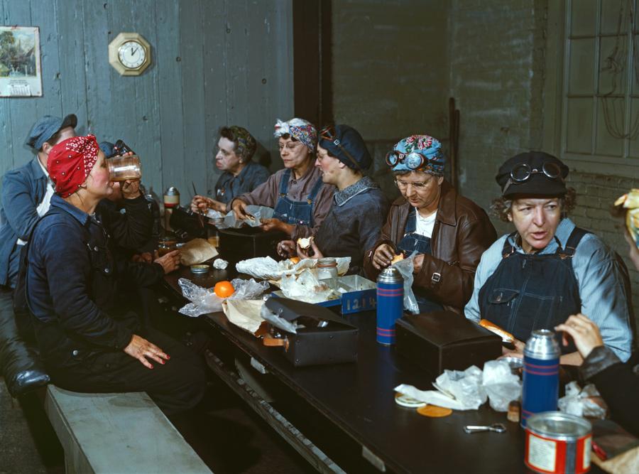 Women Workers Having Lunch