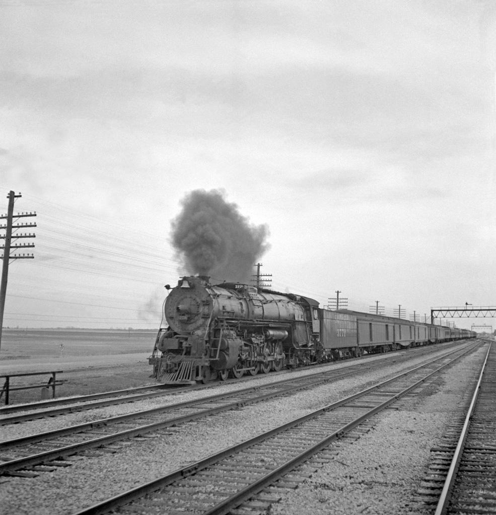 An AT&SF Passenger Train in Kansas