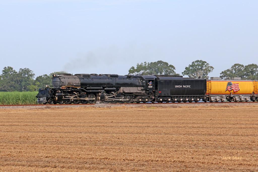 UP Big Boy #4014 Passing Though Farm Fields